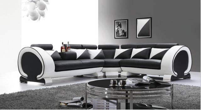 US $1268.0  Design moderno divano in pelle con l forma divano in pelle e  moderno divano in pelle-in Divani da soggiorno da Mobili su AliExpress