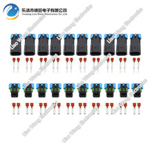 10Sets Female Male GM  2 Pin Weather Pack Waterproof Sensor Fan Electronic Connector Auto Wire DJ7025W-2.8-11/21