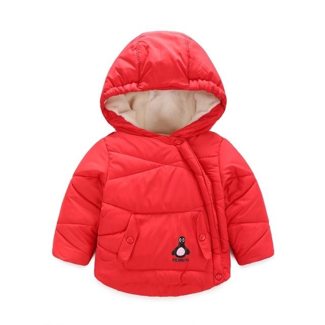 Hooded Infant Overcoat Velvet Girls Winter Coat Down Jacket For Girl Jacket Coat Boys Outerwear & Coats Snowsuit Infantil