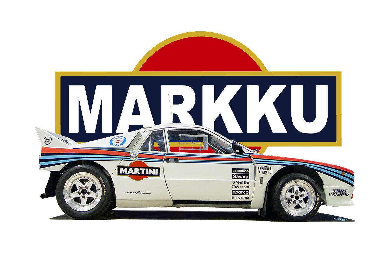 LANCIA 037 T-shirt. RALLY CAR. WRC. CLASSIC CAR. RETRO. BETA MONTECARLO. ABARTH.