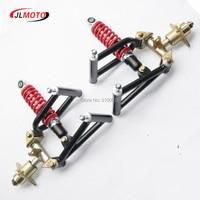 1Set Suspension Swingarm Upper/Lower A Arm Steering Strut Knuckle Spindle with Wheel Hub Fit For DIY Buggy electric ATV UTV Part