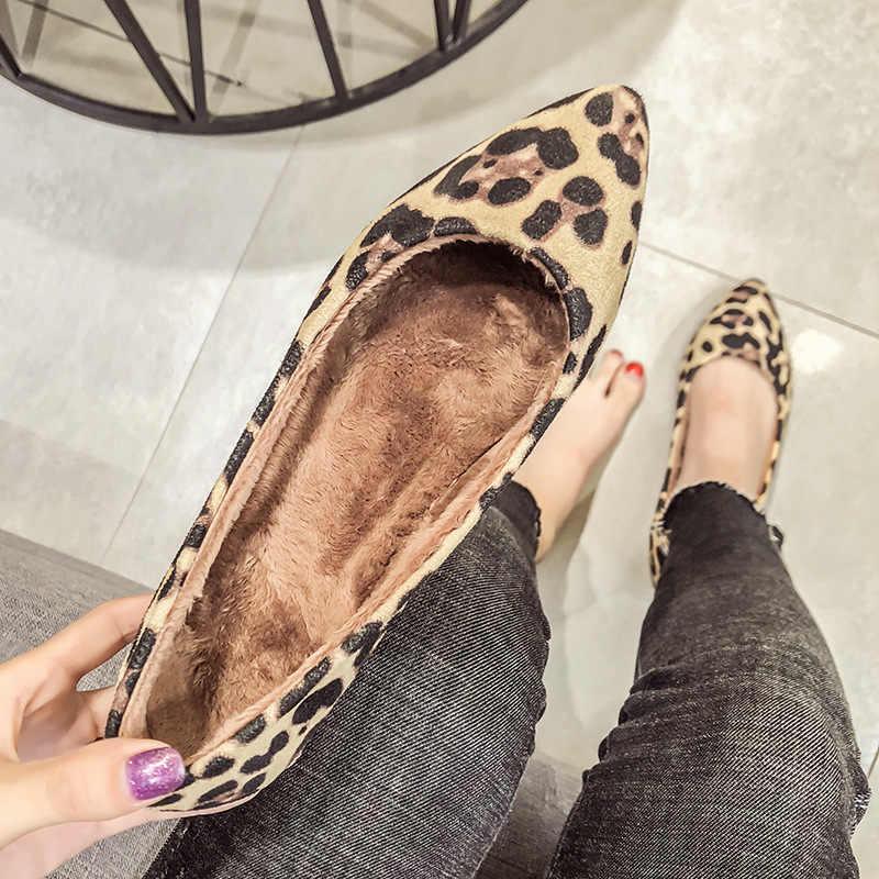 New New Womens Leopard Flats Shoes