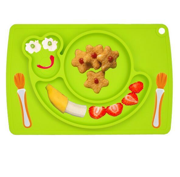 Силиконовые Placemat Плиты Поднос Еды Держатель Блюда для Малыша Ребенка Детей с Всасывания легко Чистить