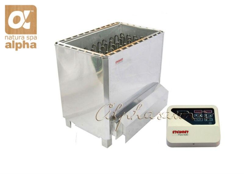 Espelho polonês de aço inoxidável 12KW220-240V de Sauna Sauna aquecedor com ST-135T superior de