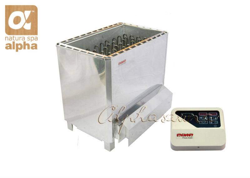 Free shipping 12KW220-240V Stainless steel Sauna stove Polish Mirror superior sauna heater with ST-135T Controller