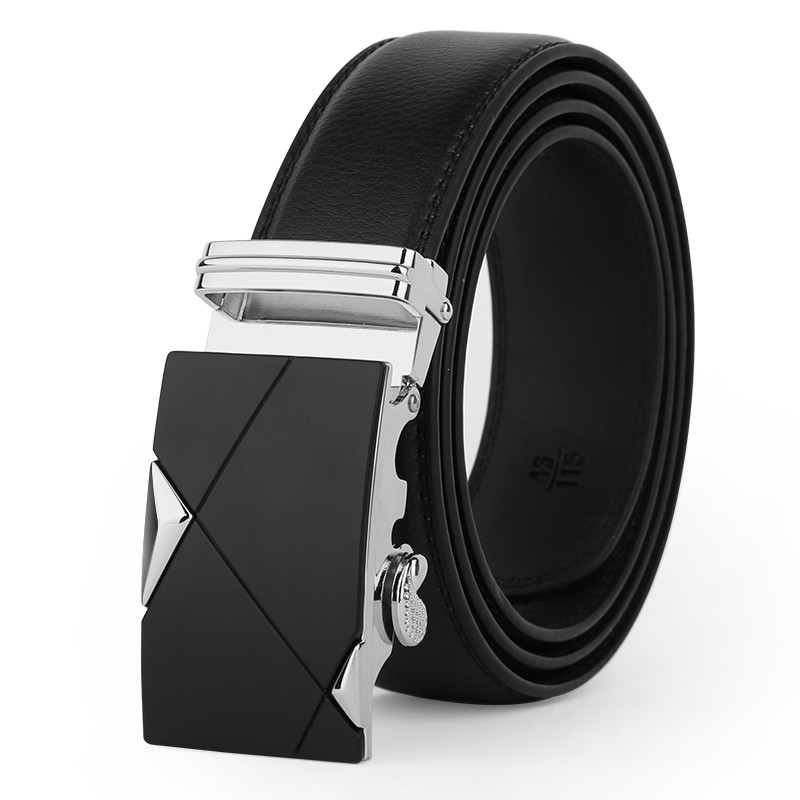 leather strap male automatic buckle belts for men authentic girdle trend men's belts ceinture Fashion designer women jean belt 2