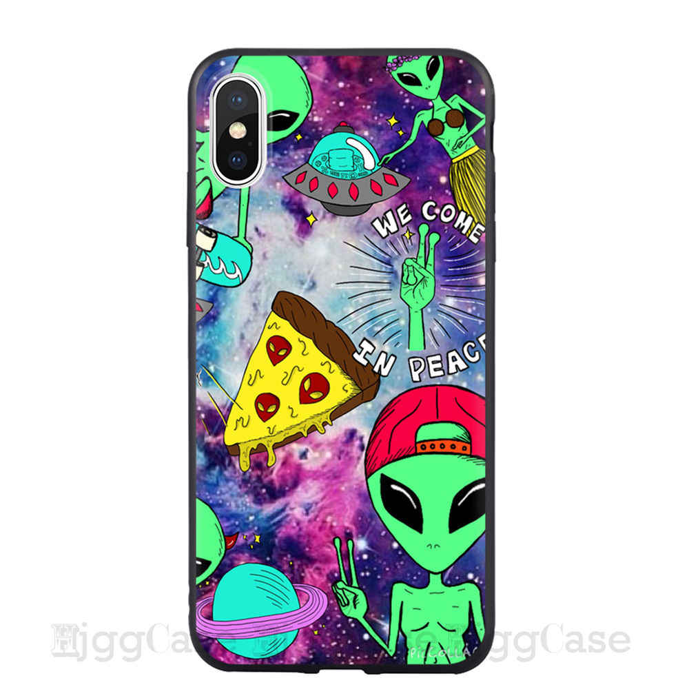 Aesthetics Cute Cartoon Alien Space Soft Silicone Phone Case Cover Shell For Apple Iphone 5 5s Se 6 6s 7 8 Plus X Xr Xs Max Case Coque For Iphone 11 Pro Max Cases Aliexpress