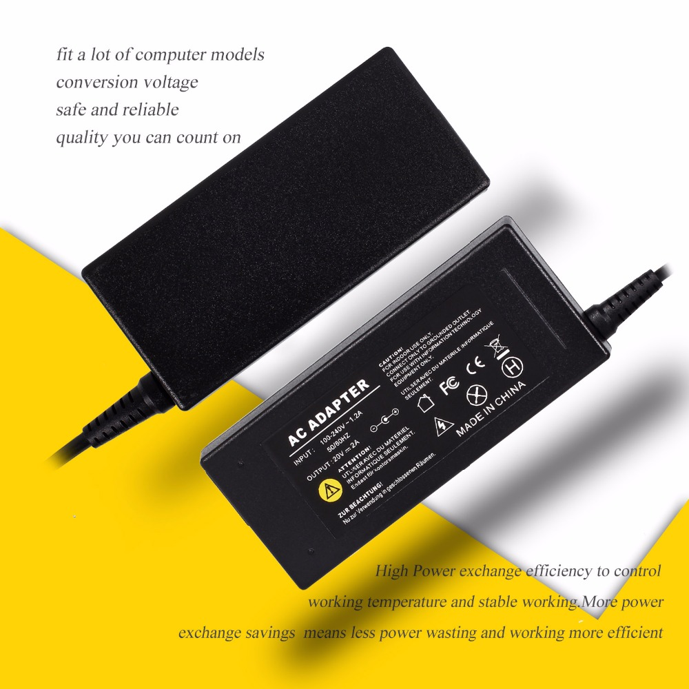 UK Plug 20V 2A 40W Unniversal AC Adapter Power Supply Batter Charger for Lenovo IdeaPad S9 S9e S10 S12 S12 carregador protatil