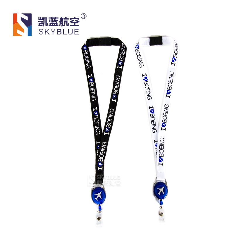 New Arrival, I Love Boeing Lanyard, with Easy Buckle, Black / White, Personalized Gift for Pilot Flight Crew Aviation Lover все цены