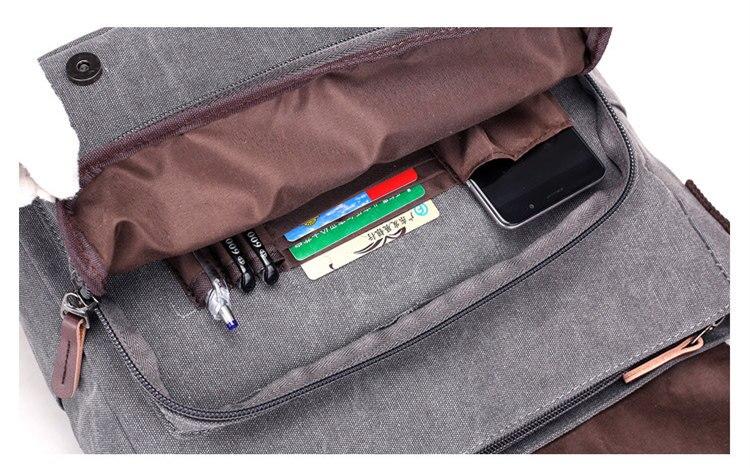 Micom Canvas Men Messenger Bags Vintage Shoulder Belt Bag Large Capacity Business Travel Bag Men\`s Canvas Crossbody Handbag New (22)