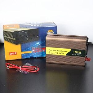 Image 4 - 1000 watt solar inverter pure sine wave dc 12v 24v 1000w inverter 1kw solar 220v ac car power inverter