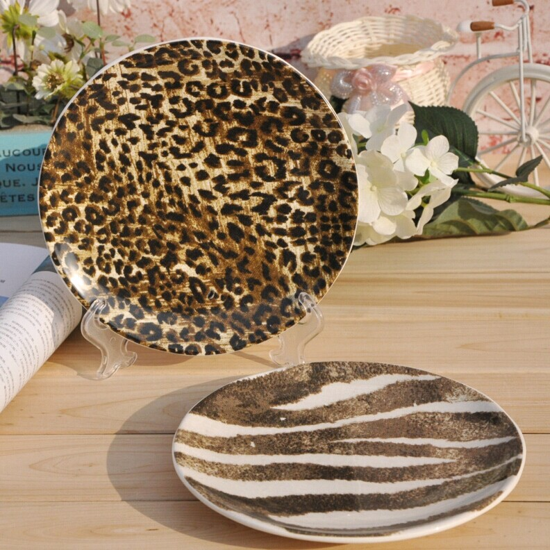 [Special] trade of ceramic kitchen utensils AB Style Leopard European decorative hanging fruit plate snack dish!-in Porcelain Plates from Home u0026 Garden on ... & Special] trade of ceramic kitchen utensils AB Style Leopard European ...