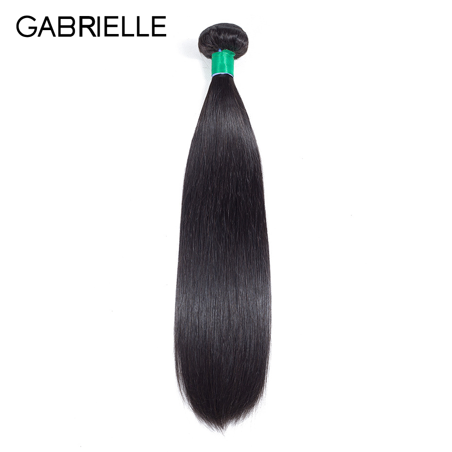 Gabrielle Indian Straight Human Hair Bundles 1 Piece 8-28 inch Natural Color Non Remy Ha ...