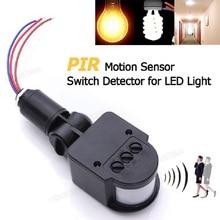 все цены на LED Wall Light Switch Lamp Starters with Infrared PIR Motion Sensor Detector 110-240V онлайн