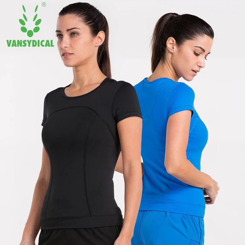 Anyfashion Women Sports Yoga Shirt Breathable Gym Running Fitness T-shirt Quick Dry Tops Short Sleeve Tees