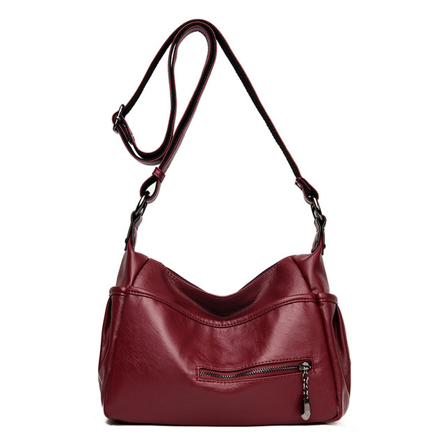 Soft Genuine Leather Women Lady Crossbody Purse Satchel Tote Shoulder Bag With Tassel Luxury Burgundy Handbag Fashion 2018 C1118