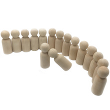 100pcs Wooden Peg People Nesting Set Peg Dolls 35mm Hantverk DIY Toy Creative Baby Teether