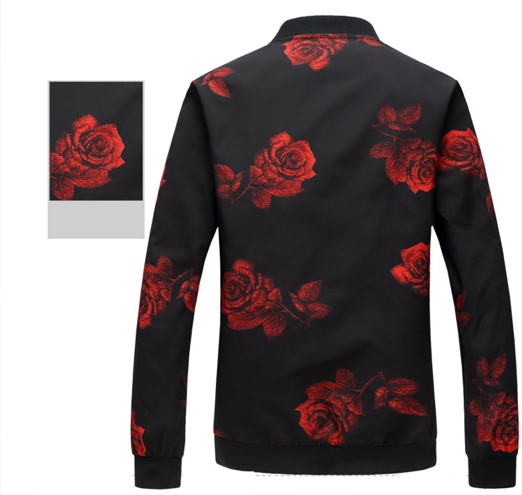 Mwxsd brand mens spring autumn casual skull printed baseball Jacket Bomber men Slim fit jacket chaquetas hombre 4xL 5xL 6xL