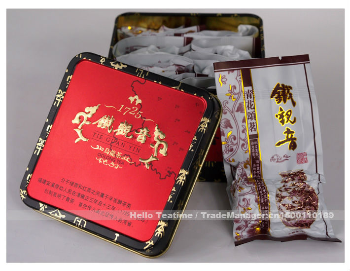 2 boxes only!Anxi tie guan yin Vintage gift box packing,2013 Iron Goddess of Mercy oolong tea High mountain,Vacuum bag packaging