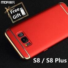 S8 плюс чехол для samsung s8 чехол s8 + galaxy s8 плюс случае MOFi оригинальный 3 в 1 задняя крышка жесткий роскошные коке капа funda золото