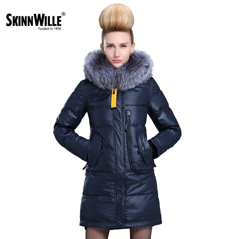 Skinnwille 2018 Veste femme Hiver Manteau femme Veste D'hiver Pour Femme Veste Avec Capuche Polyester Parc Avec mech