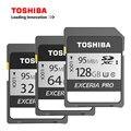 100% Оригинал TOSHIBA EXCERIA 128 ГБ 64 ГБ 32 ГБ 16 ГБ Class 10 SD SDHC SDXC Карты Памяти C10 95 МБ/с. Поддержка Официальная Проверка