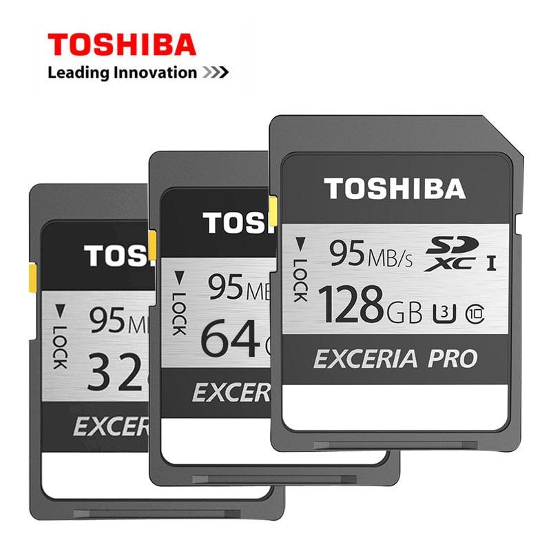 100% Original TOSHIBA SD Card EXCERIA PRO 128GB 64GB 32GB Class 10 UHS-I U3 SDHC SDXC Ca ...