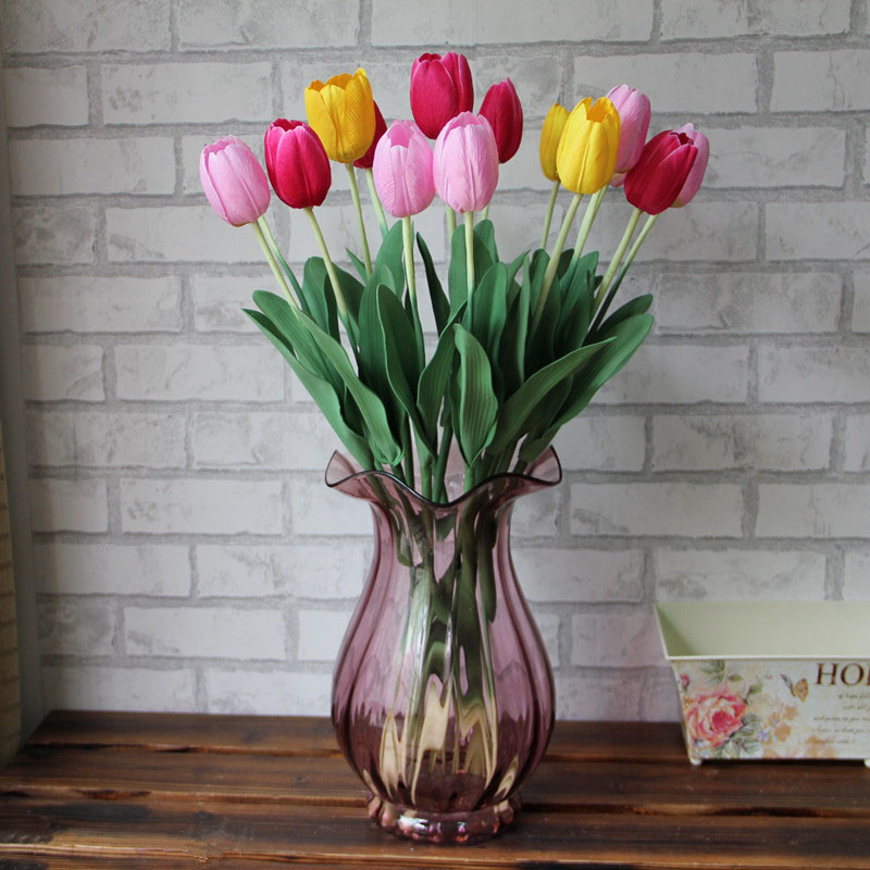 1 pcs Tulip artificial flower living room decoration fake ...