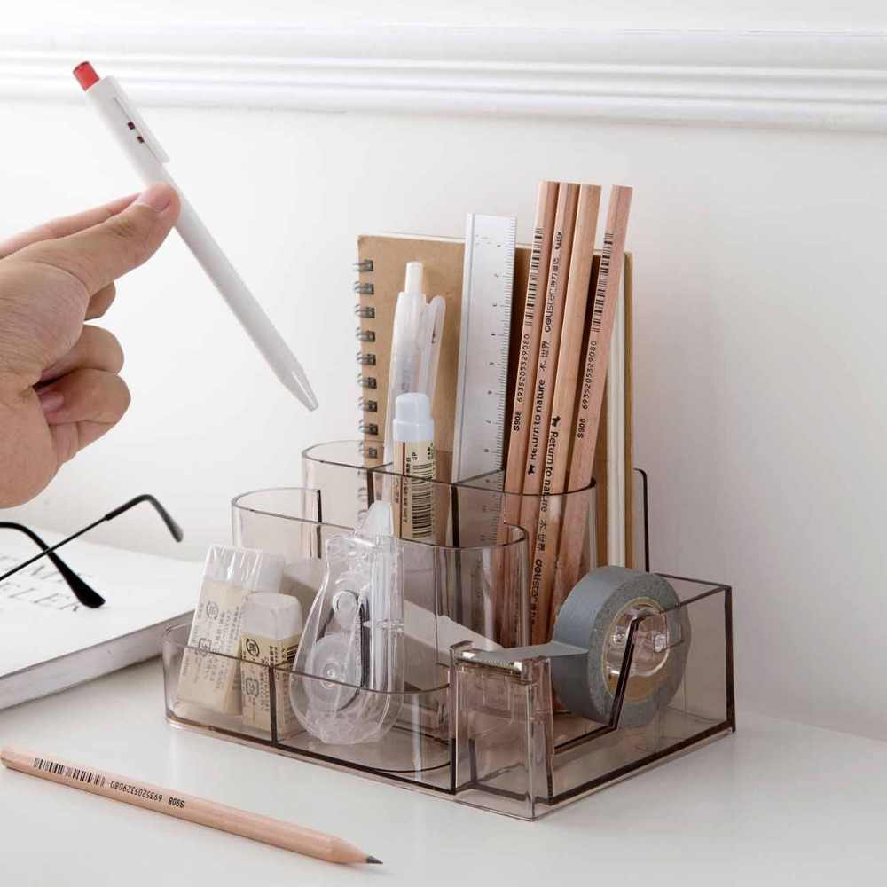 Home Office Organiser Pen Holder Pen Card Office Stationery Holder Home House Storage Box Bathroom Desk Organizer