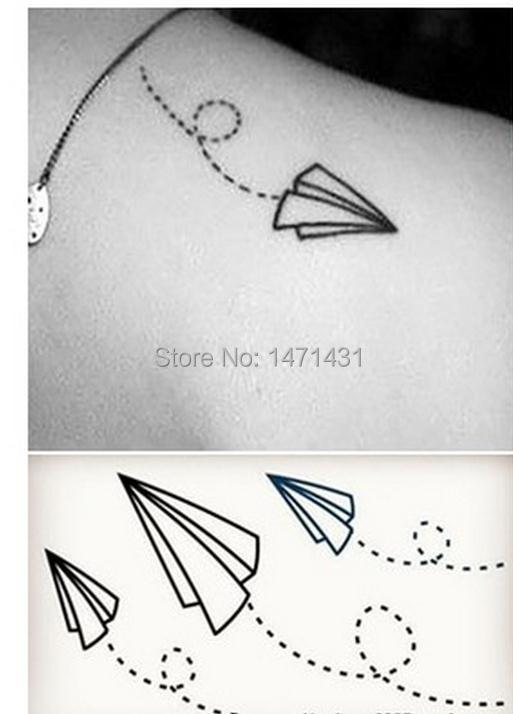 Paper Airplane Tattoo Temporary Tattoo Stickers Temporary Body Arm