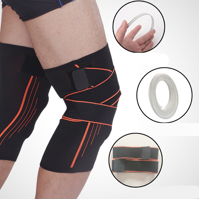 f6771a24b0 3D weaving pressurization knee brace basketball tennis hiking cycling knee  support professional protective sports knee pad 1PCS