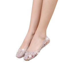 Women Shoes New Summer Black Silver Slipper Sparkling Jelly Shoes Shiny Baotou High Elastic Shoes Woman zapatos mujer #YJP(China)
