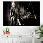 Nude Girl with Piano...