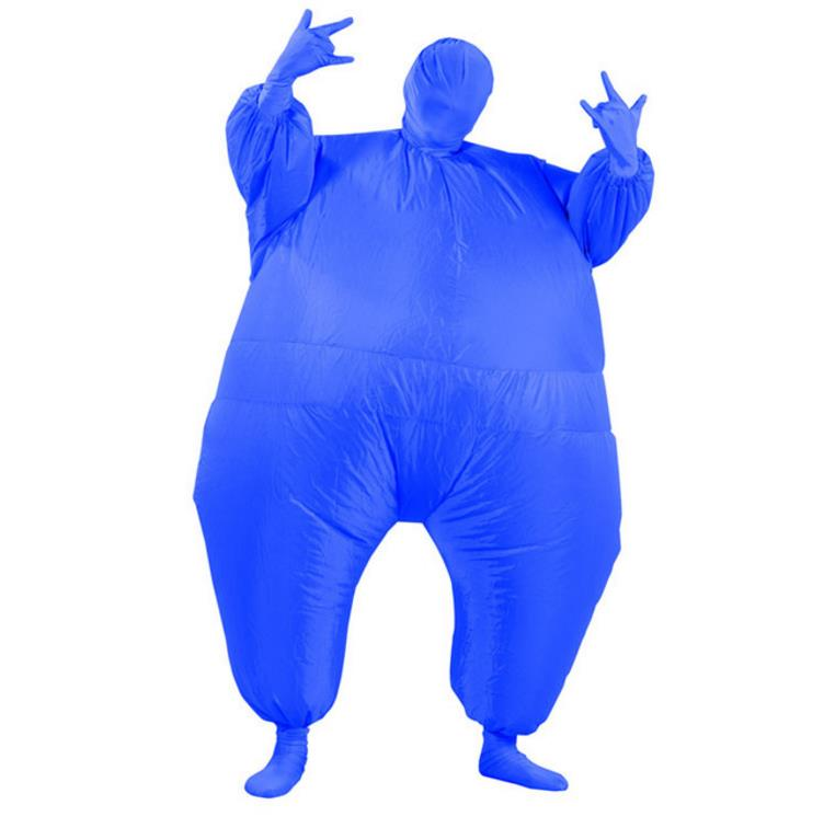 Adult Chub Suit Inflatable Blow Up Color Full Body Costume Jumpsuit 7 Colors