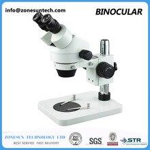 7X-45X Binocular Boom Stand Zoom Industrial Stereo Microscope microscope with 8 Watt Fluorescent Ring Lamp