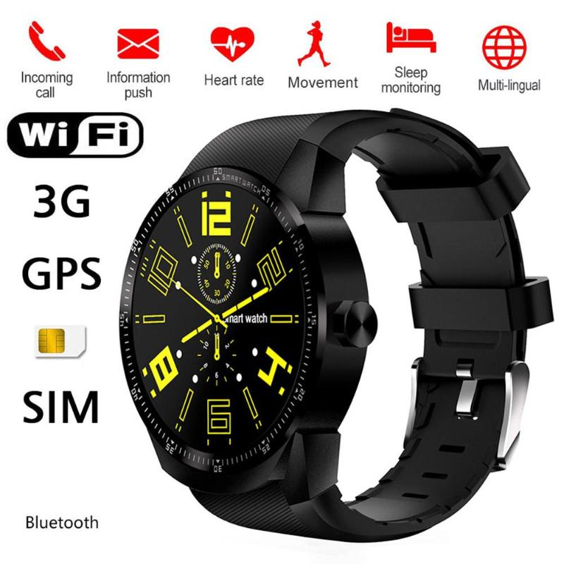 ALLOYSEED K98H Smartwatch Telefon Android 4.42 1,3 zoll 1,2 GHz <font><b>Dual</b></font> Core 4GB GPS Bluetooth Sport Hearte Rate 3G <font><b>SIM</b></font> Smart Uhr image