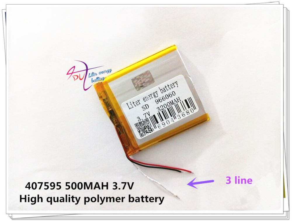 3 line 3.7V 966060 3200mah Lithium polymer Battery Liter energy batte with Protection Board For PDA Tablet PCs Digital Products