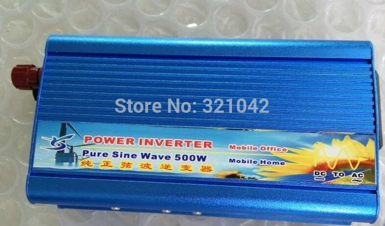peak power 1000w Pure sine wave inverter rated power 500W DC12V input to AC 220V output 50HZ
