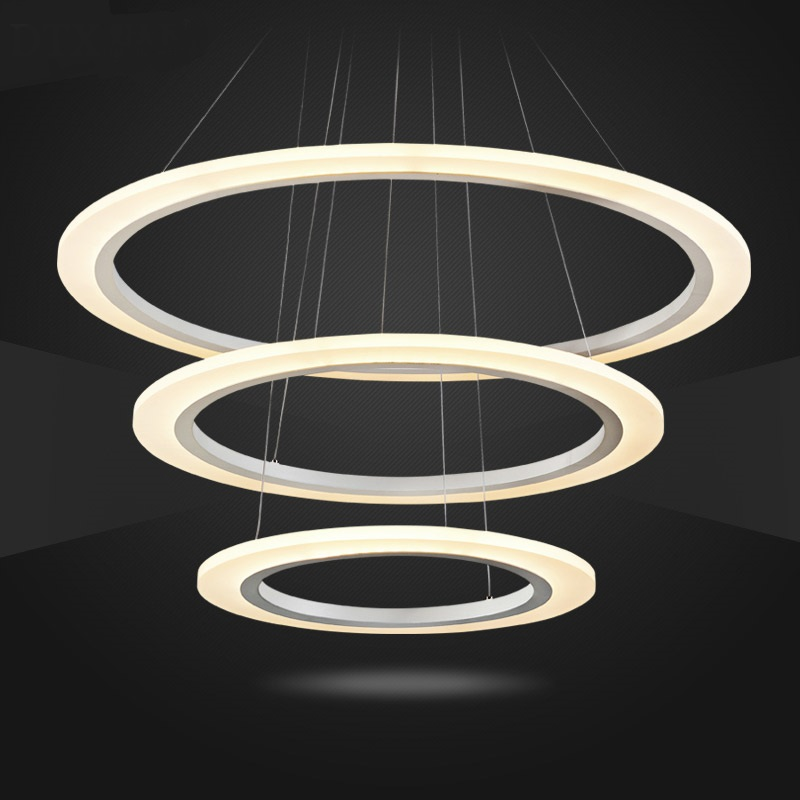 Ring LED Modern Pendant Lights simple living room restaurant creative personality shop restaurant salon office hanging FG189 creative personality restaurant pendant lights led modern minimalist ring study lamp master bedroom living room office lightscl