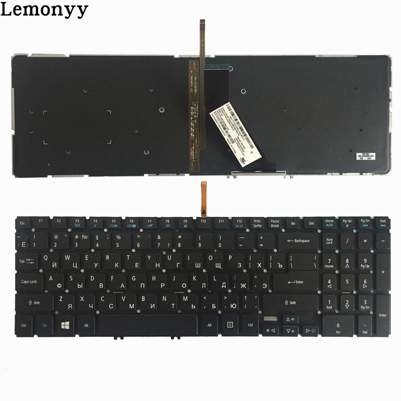 Russian/RU Laptop Keyboard for Acer Aspire V5-552 V5-552G V5-552P V5-572 V5-572G V5-572P V5-573 V5-573G V5-573P V5-583 Backlight quying laptop lcd screen for acer aspire v5 573pg v5 561 v5 561g v3 572 v3 572g vn7 591g es1 520 series 15 6 1366x768 30pin