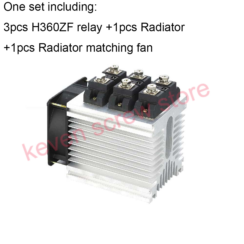 H360ZF-3 three phase DC to AC 60A 4-32VDC industrial grade solid state relay set/SSR set not Not incluidng tax ac 440v 60a three 3 phase four 4 wire 3p 4w ceramic industrial socket plug set page 2