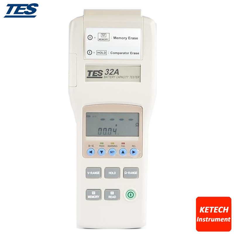 Capacité de la batterie/résistance du testeur d'impédance/mémoire du compteur de tension/lecture TES32A