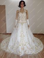 Бесплатная Доставка Лучшие Качества На Заказ Атласное Свадебное Платье С Царский Поезд 2014 вышивка свадебное платье