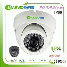 купить 5MP 2592*1944 Full HD Outdoor Dome IP Network Camera CCTV Video Security System 1080P POE Camara webcam onvif IR Night Vision по цене 3331.46 рублей