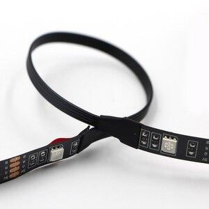 Image 3 - 1 stks USB LED Strip Lichtslingers tape Lamp 5050 SMD RGB Usb kabel afstandsbediening voor LCD Monitor TV Achtergrond licht set