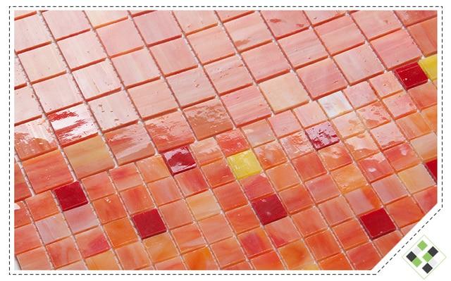 Rosso arancio piastrelle in vetro cucina a parete backsplash bagno