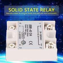 цена на 24-380V AC Anti-vibration Relay Single Phase DC-AC Solid State Relay SSR-40DA 40A Input 3-32V DC Output Solid State Relay