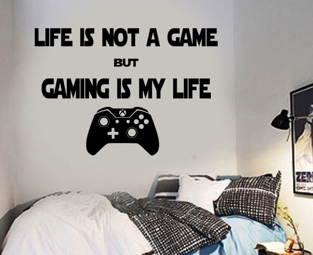 Gaming Wall Art Decal Mural Sticker Boys Gift Present Idea Bedroom Video  Game Wall Stickers For