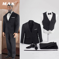 CEN M04 1/6 Scale Soldier Figure Clothes Accessory Model British Gentleman Suit for Phicen M34 Action Figure Body