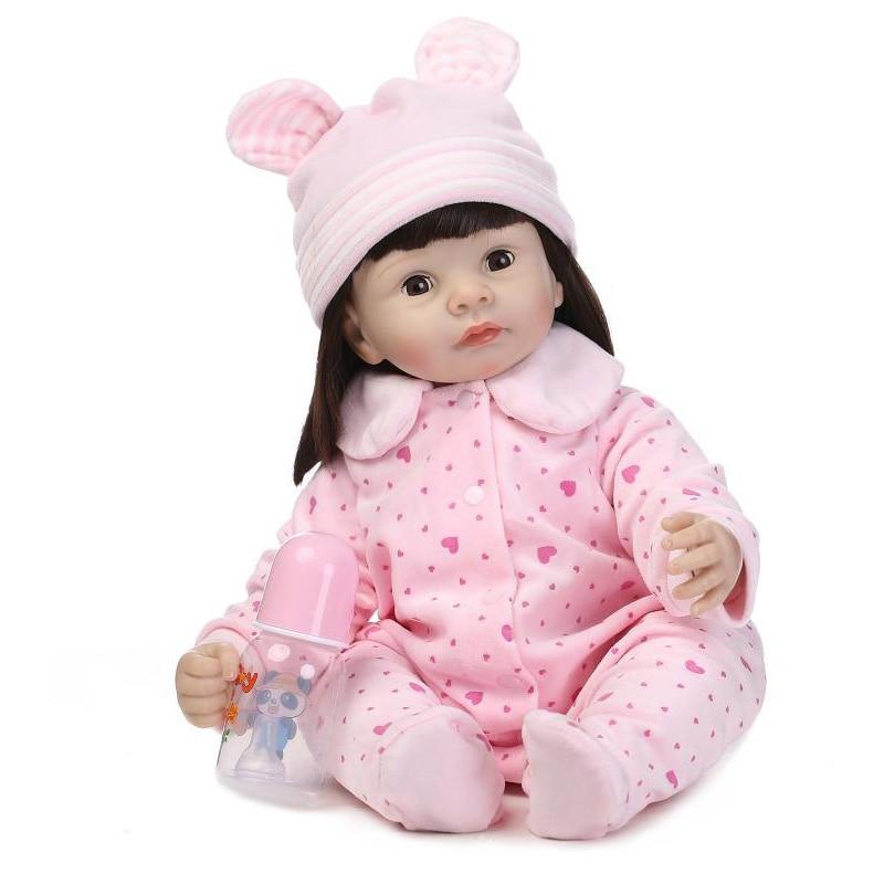 Здесь продается  2015 Best Gift New Lifelike Doll Reborn Babies De Silicone Menina 55CM  Игрушки и Хобби